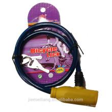 JML Factory Selling Bike Lock / verrouillage en caoutchouc de câble à bicyclette / verrouillage bon marché pour vélo