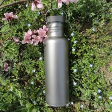 Titanium outdoor water bottle