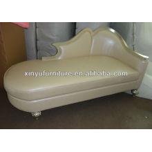 Leder europäischer Chaiselongue und Lounge XY2825