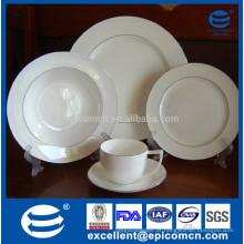 Nova china de osso 20pcs silver rim dinnerware