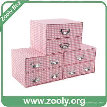 Caja de regalo de papel multiusos con cajones