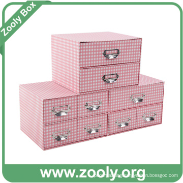 Multi-Purpose Organizer Paper Gift Box with Drawers