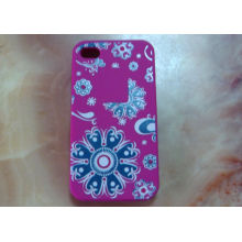 Purple Silk Printed Smart Phone Touch Gloves Iphone Glove For Iphone 4s