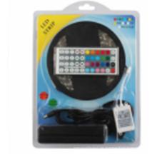 LED-Streifen-Lichter SMD5050 imprägniern 5M 60leds / Meter RGB-Farbe Flexible LED-Seil-Lichter with12V 5A Stromversorgung + 44 Schlüssel IR-Fernsteuerungs