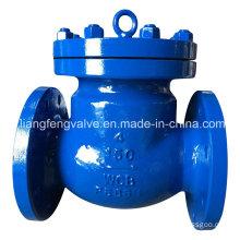ANSI Válvula de retención de extremo de brida con acero al carbono