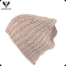 Chapeau en tricot épais épais