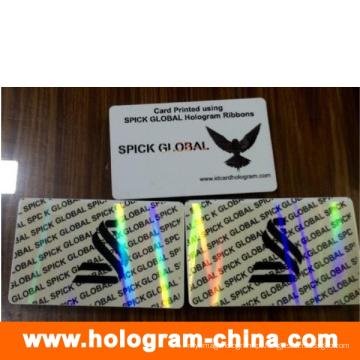 Holograma de sobreposição de cartão de identificação transparente PVC personalizado anti-falsificação