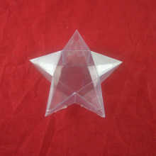 Customized clear Five-pointed Star  soft crease folding Packaging box For Holiday Gift