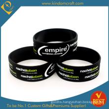 Promotional Wholesale Broadened Black Silicone Wristband