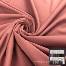 lycra sanding brushed polyester 4 way stretch stock fabric for thermal underwear
