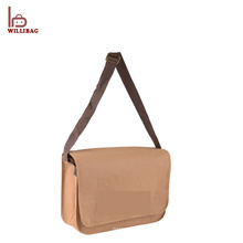 Recycled Material Brown Washable Kraft Paper Bag with Shoulder Strap