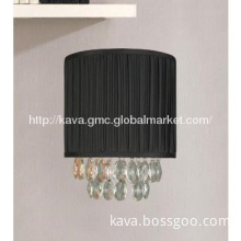 Black shade fabric modern indoor wall lamp lighting