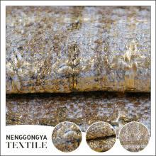 Logo personnalisé Différents types de beau tissu tissé de polyester de slub
