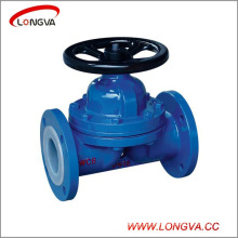 "4"" Carbon Steel Wcb Weir Type Fluorine Lined Diaphragm Valve"