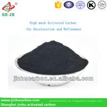 Carbón activado de alta malla para decoloración y refinamiento