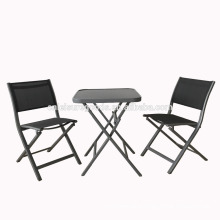 3pcs set outdoor aluminium patio furniture for garden