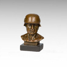 Bustes Laiton Statue Amérique Soldat Décoration Bronze Sculpture Tpy-511