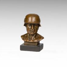 Busts Brass Statue America Soldier Decoration Bronze Sculpture Tpy-511