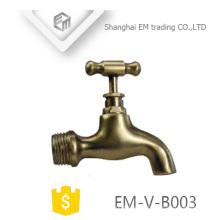 EM-V-B003 Garten Waschmaschine Wasserhahn Wasserhahn zwei Wege poliert Messing Bibcock