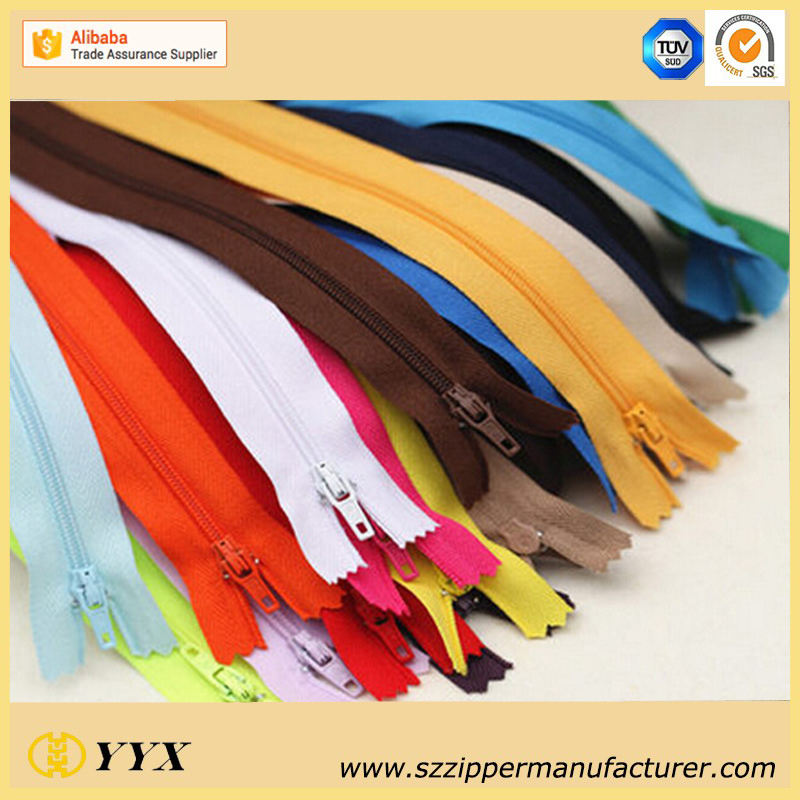 Colorful Nylon zipper