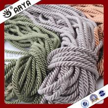 Cuerda decorativa del color de tres tipos para la decoración del sofá o el accesorio de la decoración casera, cuerda decorativa, 6m m