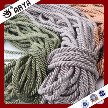 Trois cordes décoratives de couleur aimable pour décoration de canapé ou accessoires de décoration de maison, cordon décoratif, 6mm