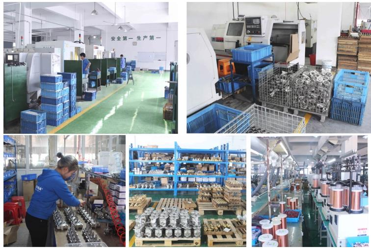 Production display of DC12V Injection Rail Electromagnetic Coils