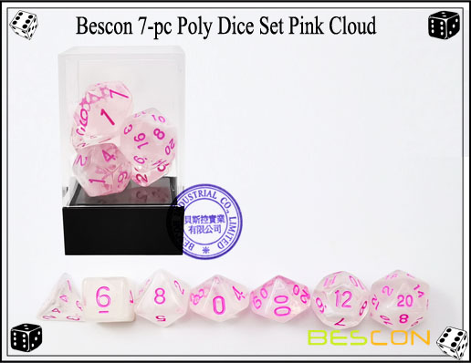 Pink Cloud Dice Set-4