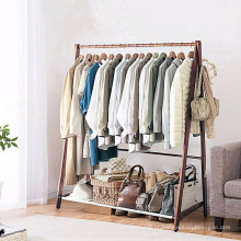 Gancho de pano da cremalheira do vestuário do suporte da cremalheira de secagem da lavanderia para a casa e o negócio