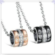 Amantes pingente de aço inoxidável jóias colar moda (nk370)