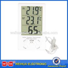 Termómetro digital TA298 con termómetro de humedad para interiores y exteriores