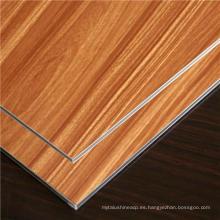 Panel compuesto de aluminio de la textura / del grano de madera de la venta caliente