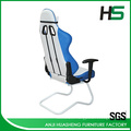White and Blue Cool Tone style Racing Chair With Durable Armrests