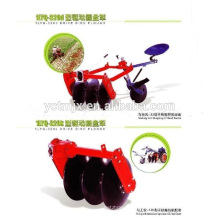 Driven disc plow for GN walking tractor