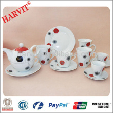 Elegant Ceramic Porcelain Breakfast Sets / Table de petit déjeuner Set / High Tea Plates Coffee Cups Saucers Plateaux Ensembles