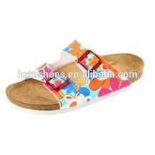 Женские летние сандалии Пляжное мягкое скольжение на плоской сандалии на каблуках
