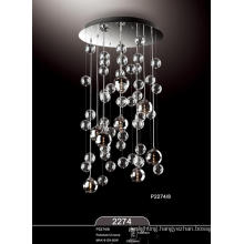 Hot Sale Home Hotel Chrome Glass Pendant Lamp (P2274-8)