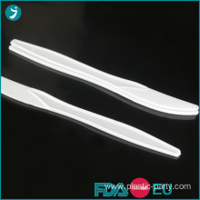 Disposable Plastic Knife White Medium Weight 3.5g