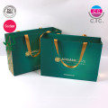 Custom printing green garment carrier shopping bag