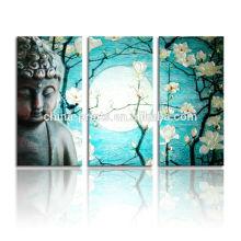Картина маслом Будды на холсте / 3D Буддаская живопись / Индийские картины маслом Будды
