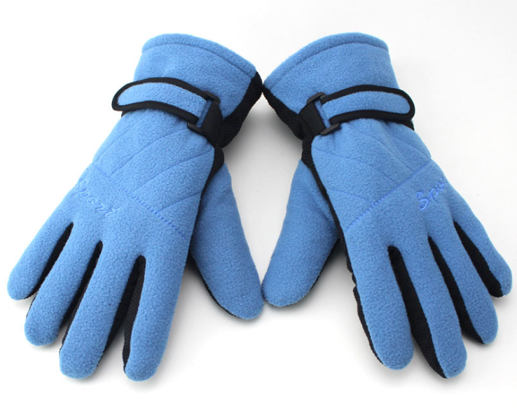 Skid Proof Fleece Gloves Blue