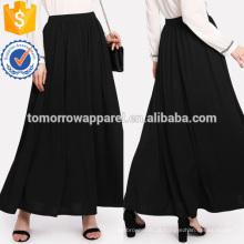 Comprimento total sólido skir manufatura atacado moda feminina vestuário (ta3072s)