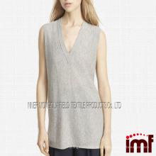 Cashmere V-pescoço pescoço Vest