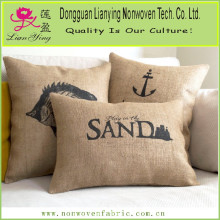 Burlap Lumbar Pillow Cover Decorative Pillow