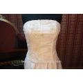 EN STOCK Off-The-Hombro vestido de novia de flores sin mangas de longitud del piso de vestidos de novia SW121