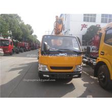 Scissor lift type aerial work platform truck