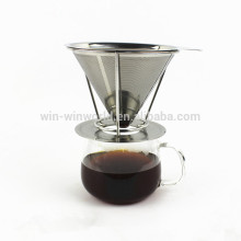 Hot Selling Stainless Steel Custom 4 Cup Reusable Coffee Filter Pour Over