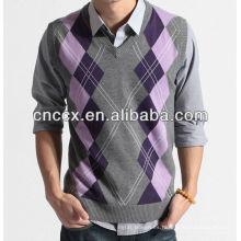 12STC0580 mens crochet sweater chaleco patrón