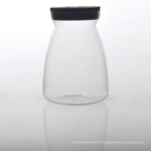 Borosilicate Glass Food Container with Cork Lid