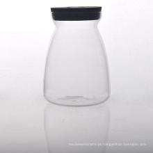 Recipiente de alimento de vidro de borosilicato com tampa de cortiça